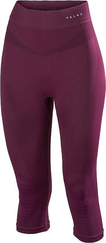 Vendetta Purple FALKE Womens Maximum Warm 3//4 Tights