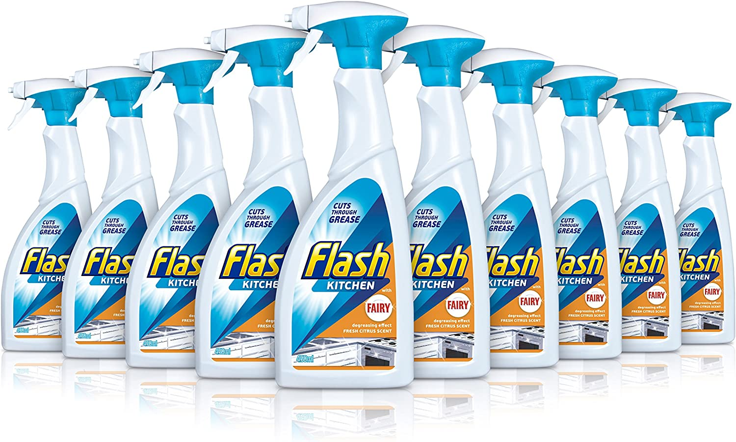 Flash Kitchen Spray Dissolves Grease and Leaves Shine