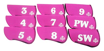 Amazon.com: Hierro Guantes Cover (Set de 9), color rosa ...