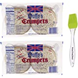 Duffy's Crumpets, 12.5 oz (Pack of 2) with PrimeTime Direct Silicone Basting Brush in a PTD Sealed Bag