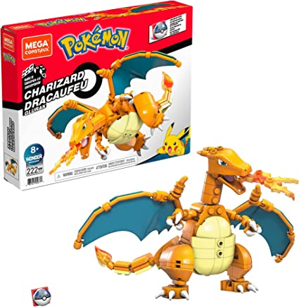 Mega Construx Pokémon Charizard Figura de 222 bloques de construcción de juguete para niños (Mattel GWY77)