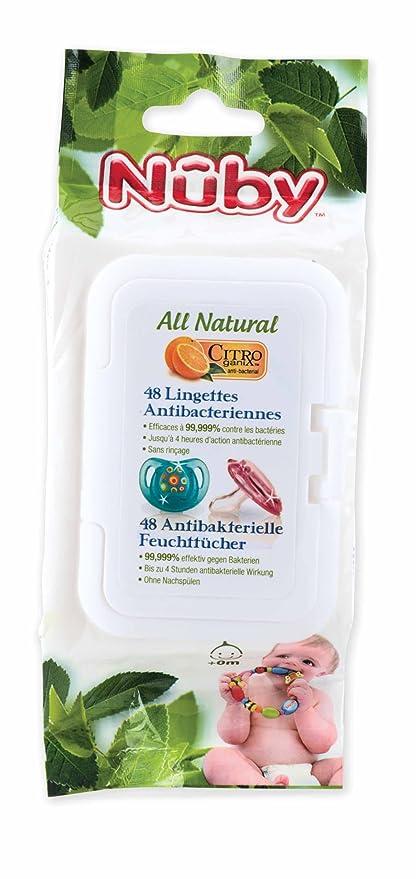 NUBY All Natural antibacteriana Toallitas para chupetes y mordedores (2 unidades)