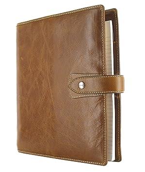 Filofax Malden - Agenda archivador (tamaño A5), color ocre: Amazon.es: Oficina y papelería