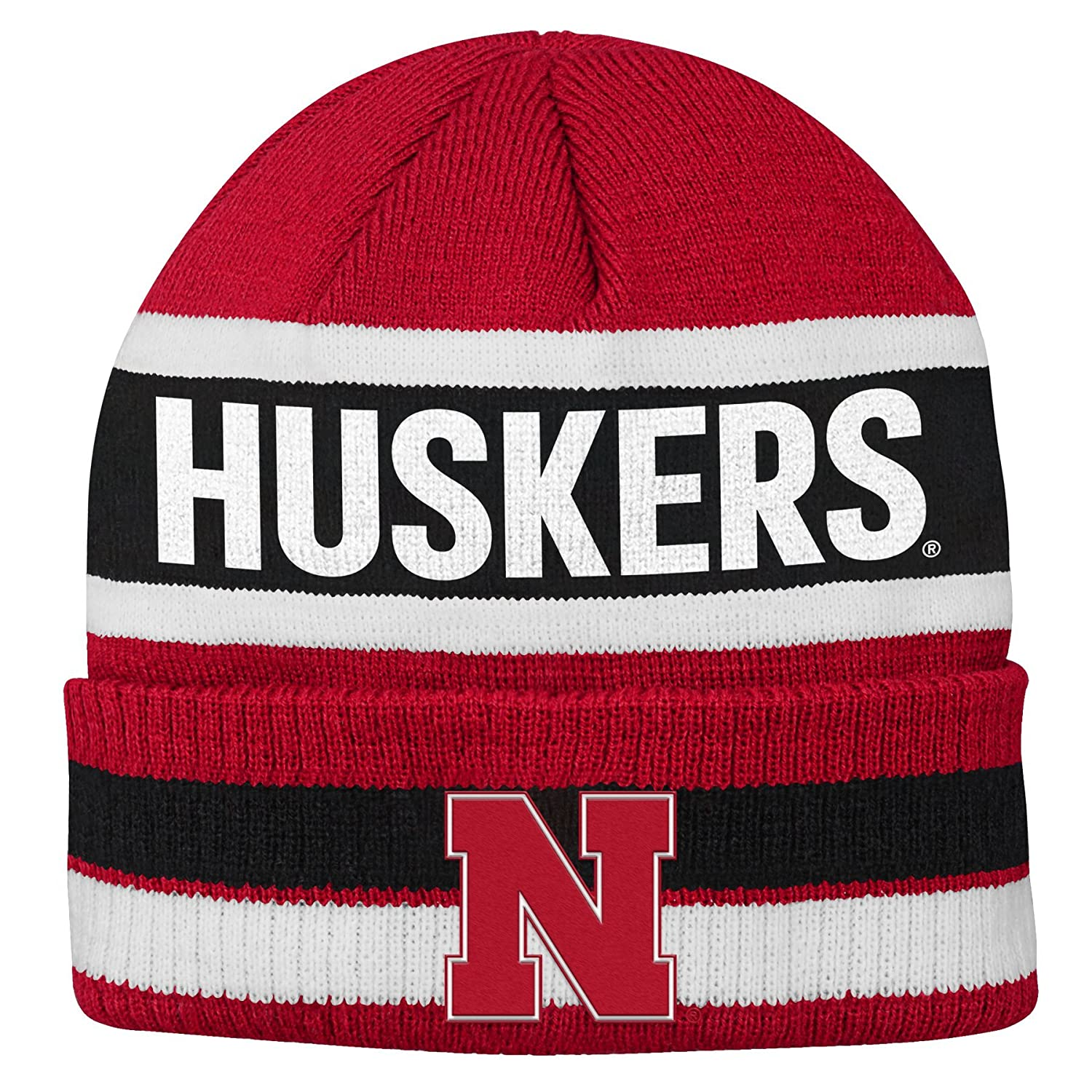 University of Nebraska Huskers Striped Newborn Knit Cap