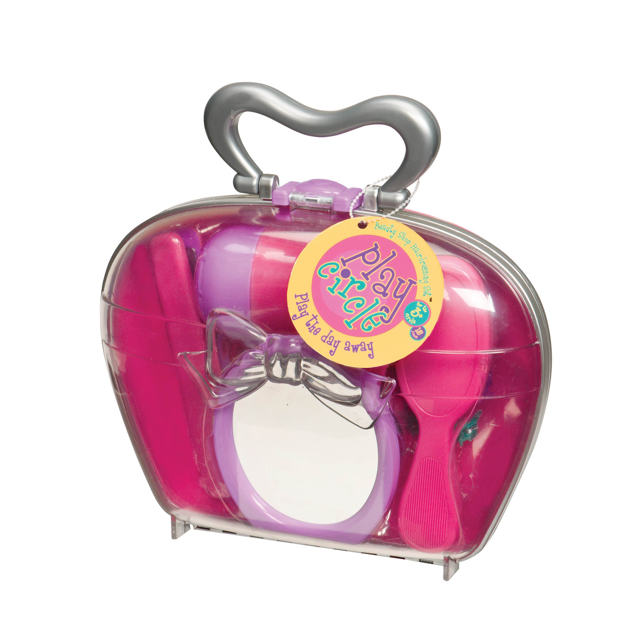 Play Circle by Battat Beauty Shop Children's Hairdressing Set and Hair Dryer, Pink