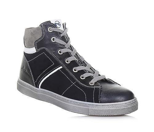 Nero Giardini Sneakers stringata blu in pelle 999a7167aab