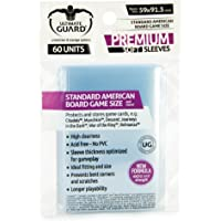 Ultimate Guard UGD010279 Premium Sleeves for Board Game Cards, Standard American, 60 Counts