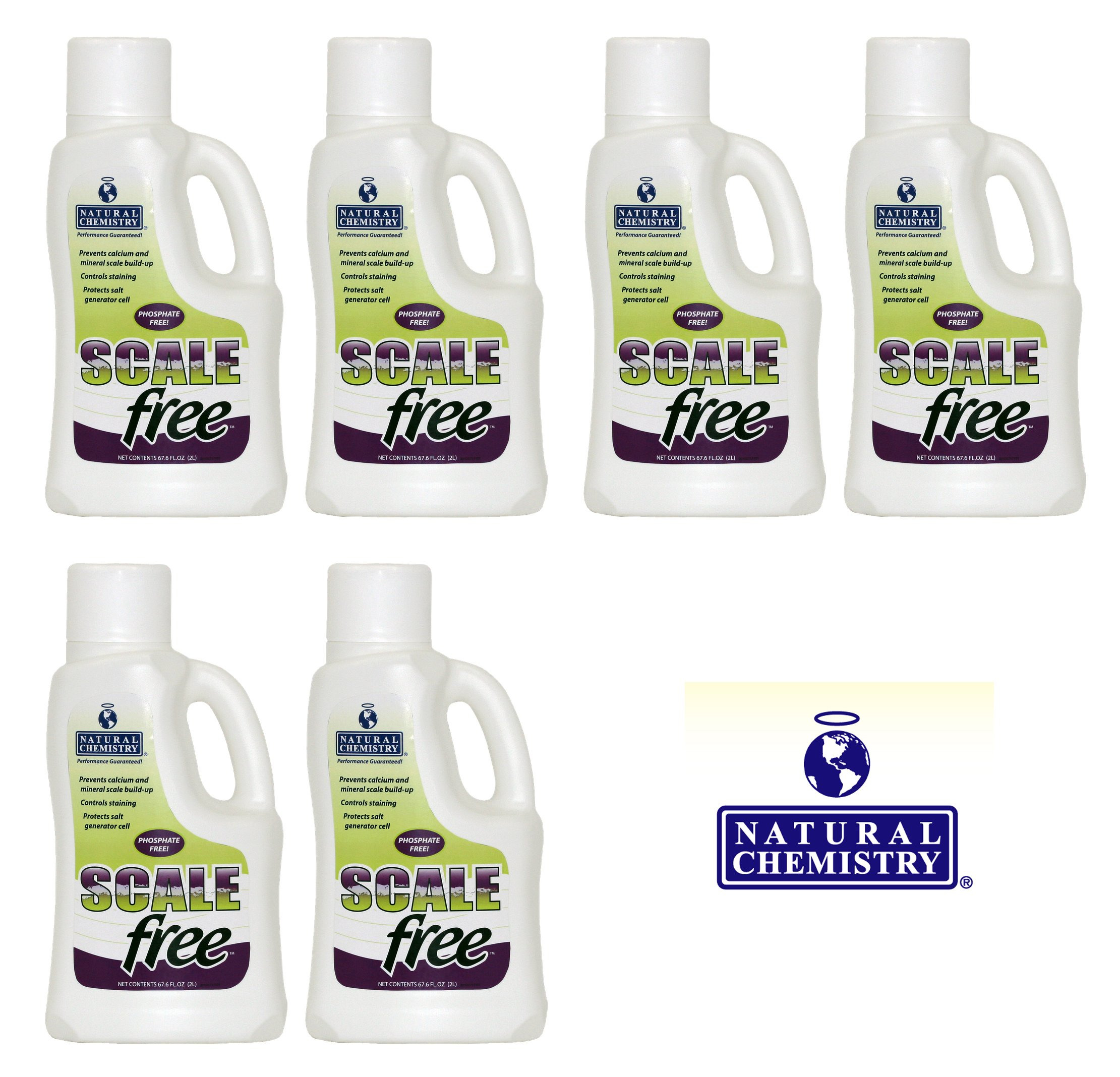 Natural Chemistry 6 07511 Spa Swimming Pool SCALEfree Mineral Stain Prevent - 2L by Natural Chemistry