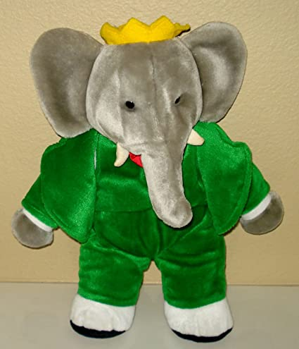 Amazon Com Babar The Elephant 1988 Vintage Plush By Gund 13