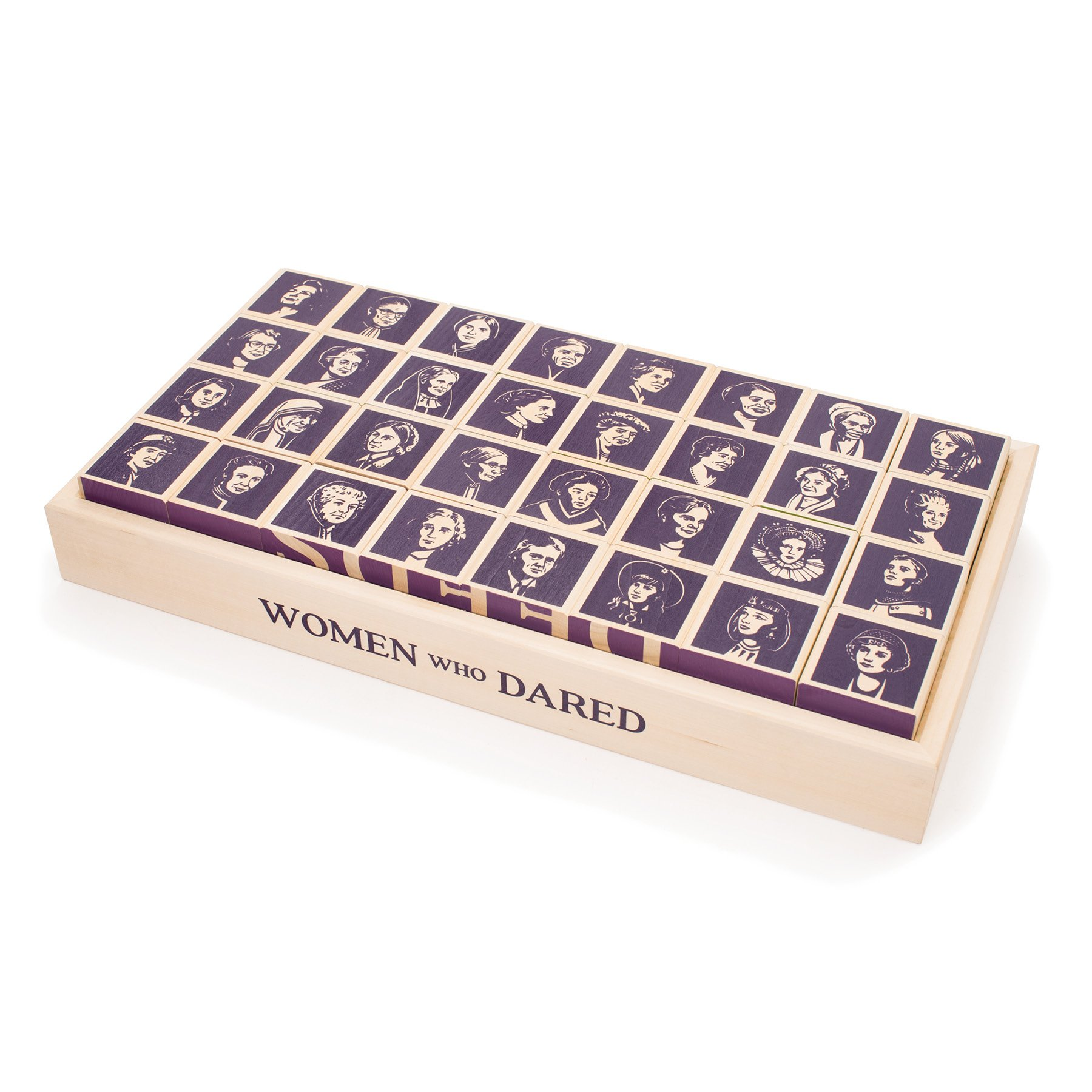 Uncle Goose Women Who Dared Blocks - Made in The USA