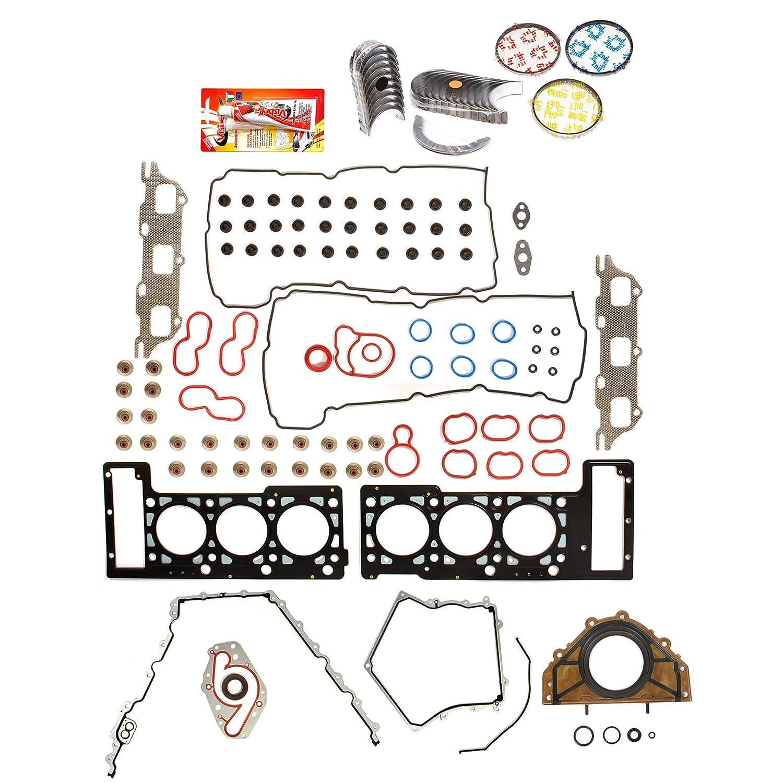 Domestic Gaskets Engine Rering Kit FSBRR8-30101LEVE\0\0\0 05-09 Dodge Magnum Charger Chrysler Sebring 2.7 Full Gasket Set, Standard Size Main Rod Bearings, Standard Size Piston Rings