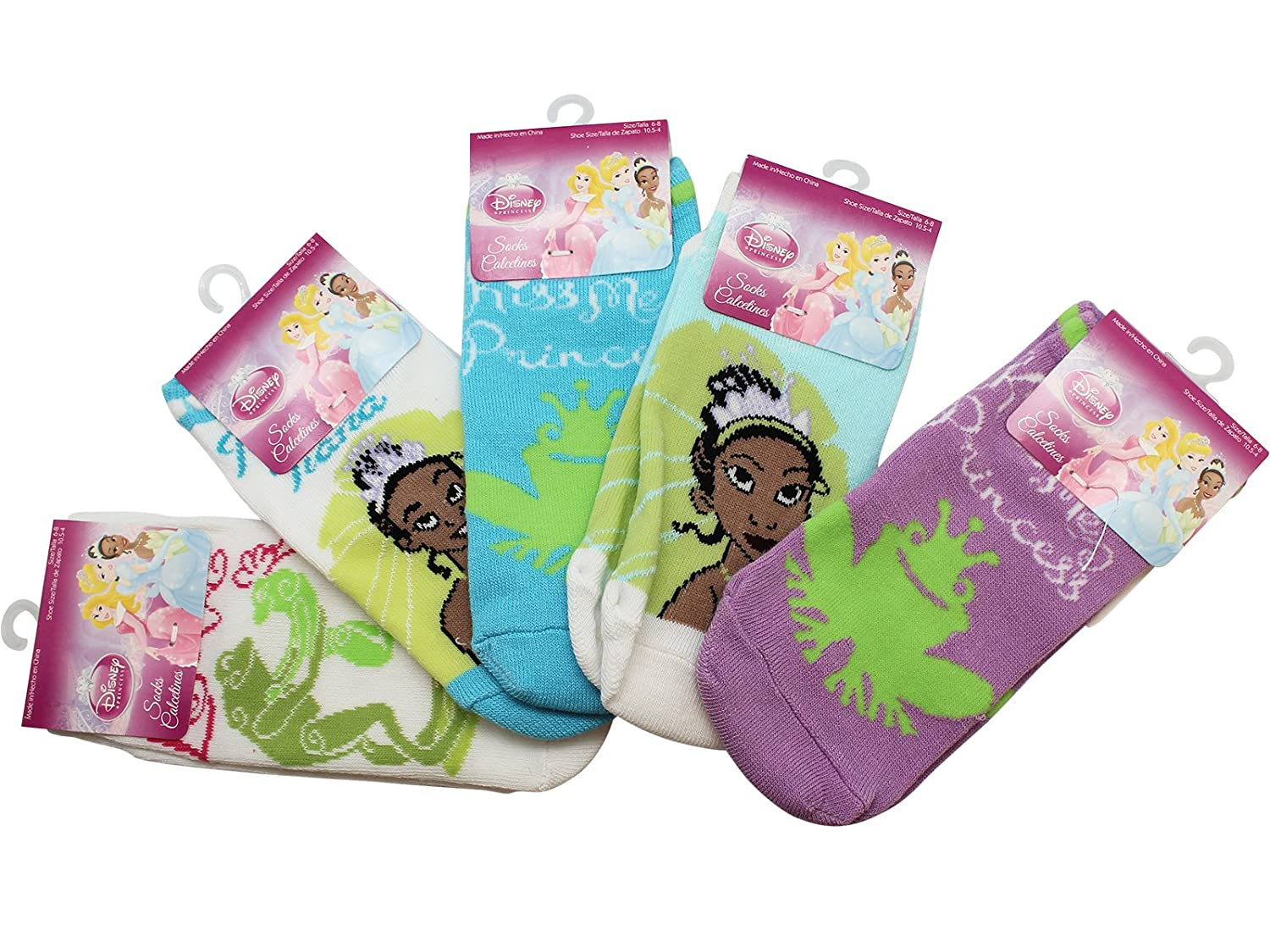 3 Pair Pack Princess and The Frog Fashion Socks