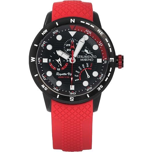 Reloj multifunción Hombre Strumento Marino Regatta VIP deportivo Cod. sm128s/BK/Nr/RS: Amazon.es: Relojes