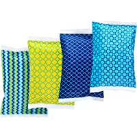 Ice Pack for Lunch Boxes - 4 Reusable Packs - Classic Prints - Keeps Food Cold – Cool Print Bag Designs - Great for Kids or Adults Lunchbox and Cooler…