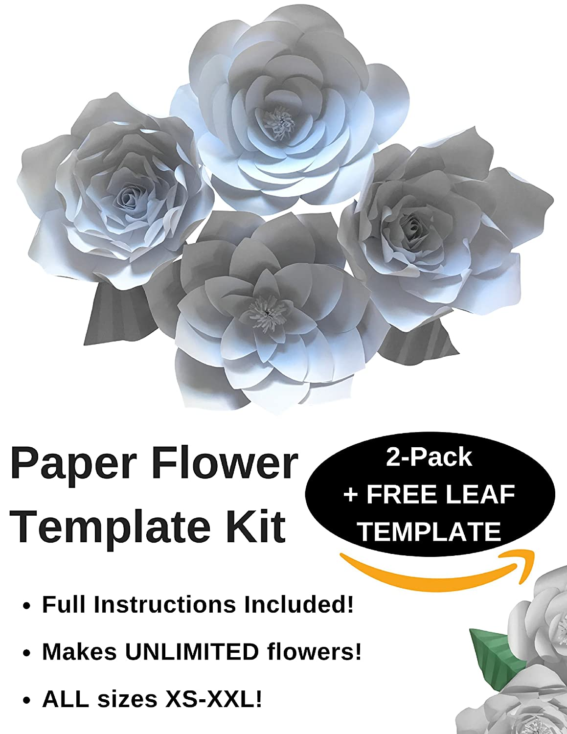 Paper flower template kit make your own paper flowers paper paper flower template kit make your own paper flowers paper flowers decorations for wall make unlimited flowers diy mightylinksfo