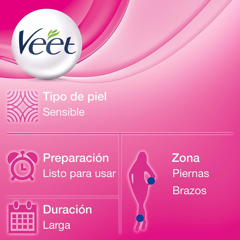 Veet Bandas de Cera Depilatoria -Easy Gelwax,Pieles Sensibles, 40 bandas: Amazon.es: Salud y cuidado personal