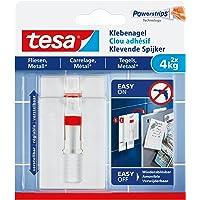 Tesa 77767-00000-00 Adjustable Adhesive Nail for Tiles & Metal, 4 kg, wit