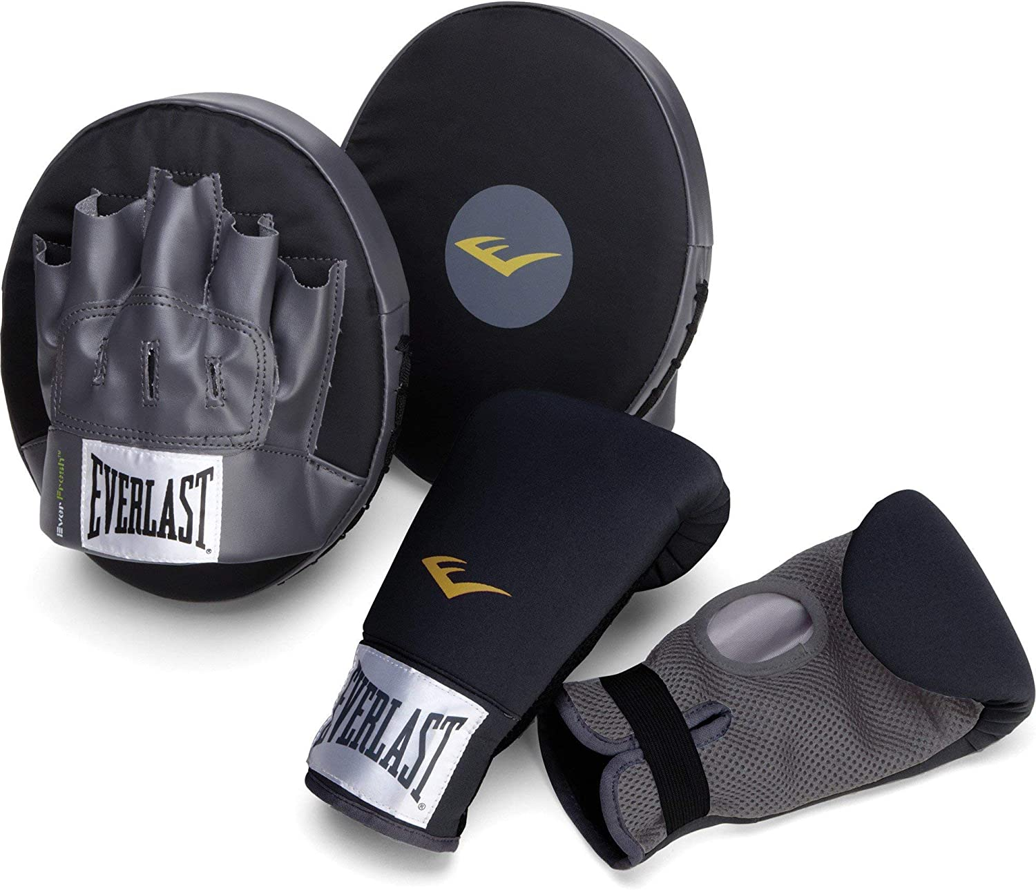 Everlast Boxing Fitness Kit, Black/Grey : Boxing And Martial Arts Protective Gear : Clothing