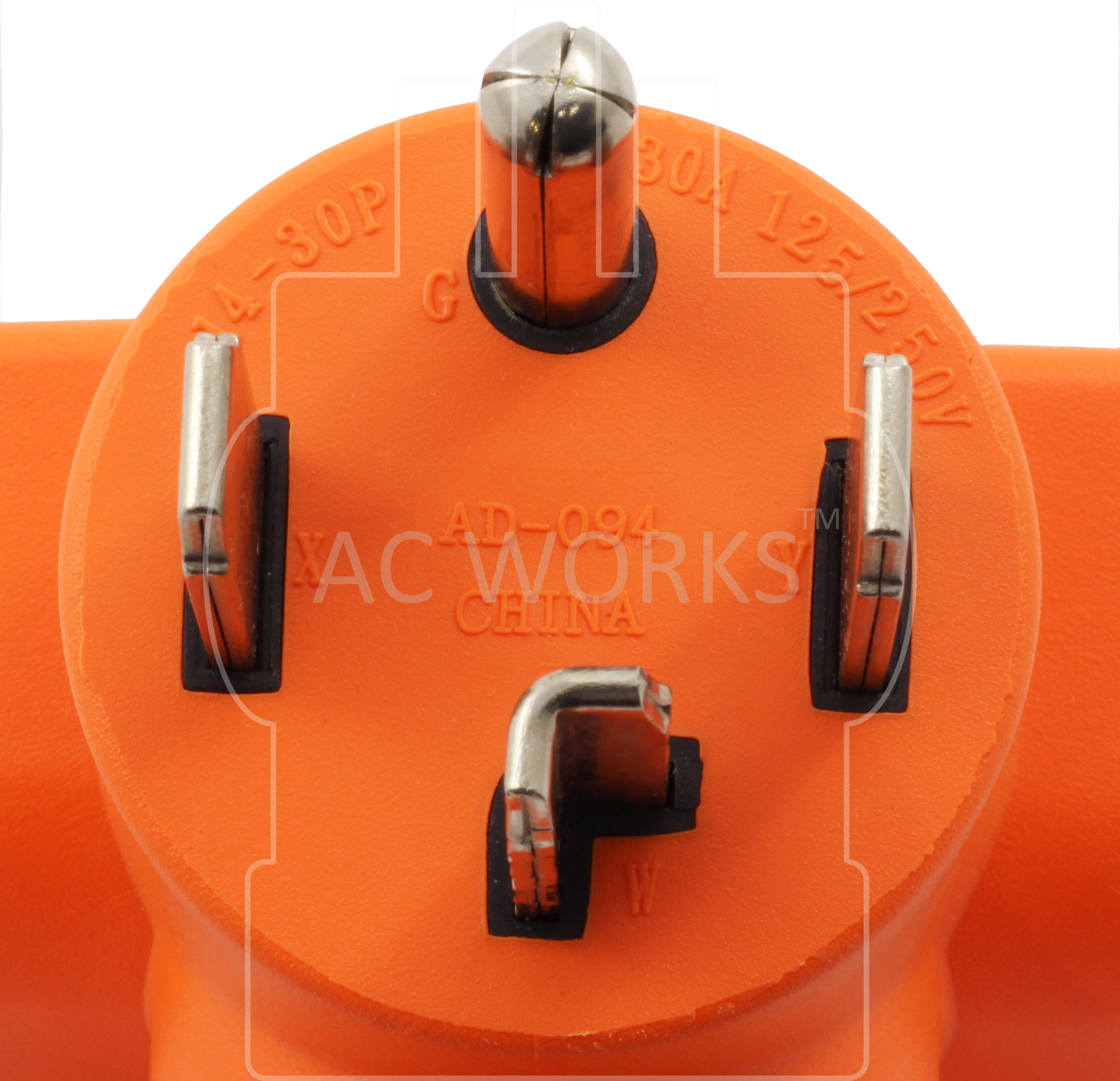 AC WORKS [AD1430L630] Plug Adapter NEMA 14-30P 4-Prong 30Amp Dryer Outlet to L6-30R 30Amp 250Volt Locking Female Connector by AC WORKS (Image #3)