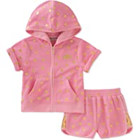 Juicy Couture Baby Girls 2 Pieces Hoodie Shorts Set