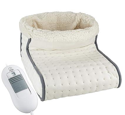 Elektrischer Fußwärmer mit waschbarem Innenfutter | Wärmeeinstellung per Fernbedienung | 3 Heizstufen wählbar | Überhitzungss
