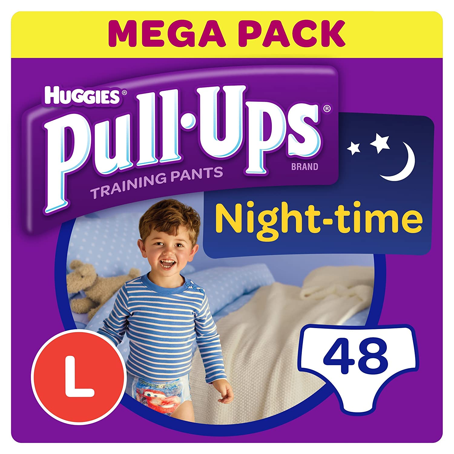 Huggies Pull-Ups Night Time Potty Training Pants for Boys, Large, 48 Pants Kimberly-Clark 2920831