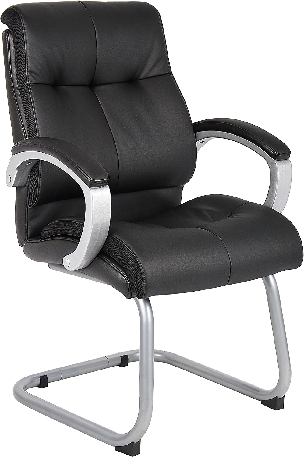 Boss Office Products Double Plush Guest Chair in Black