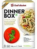 Chef's Basket Dinner Box Pasta Alfredo and Tomato Basil Soup Combo, 544g