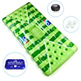 Outer Trails Inflatable Beer Pong Table and Pool Float with WiFi Speaker, 4 Glow Balls, and Detachable Cooler Cover