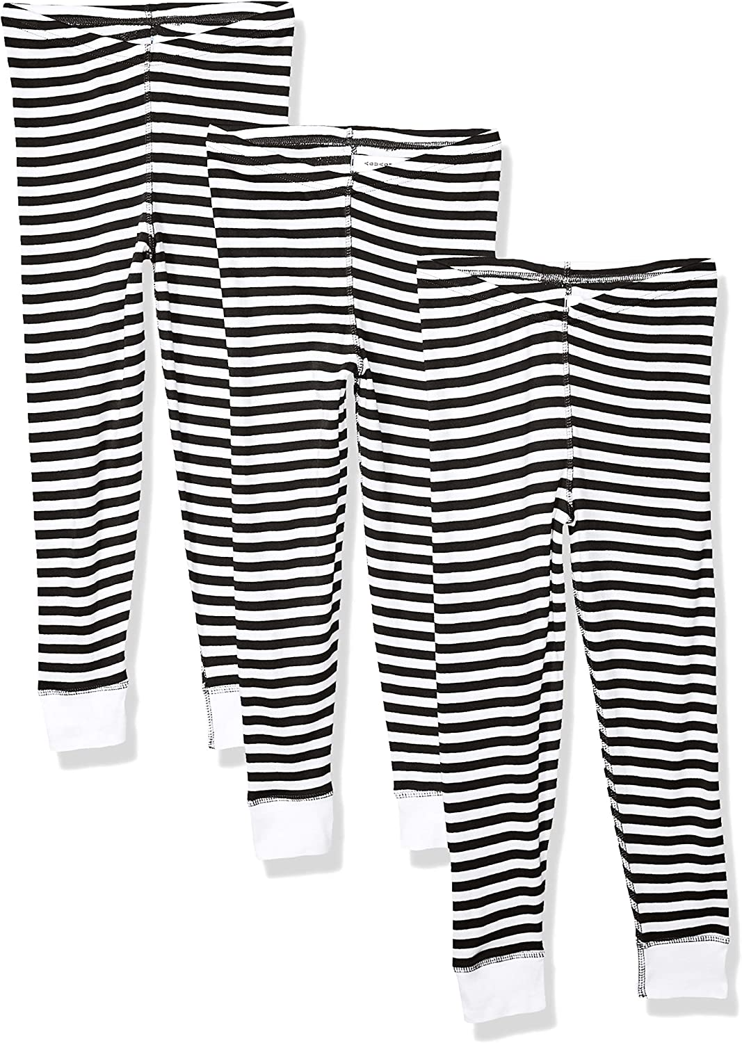 AquaGuard Girls Big Baby Rib Pajama Pant-3 Pack