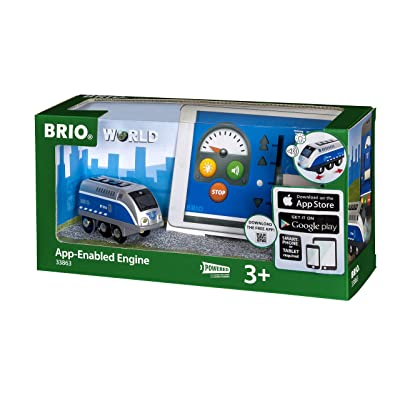 BRIO World - 33863 App-Enabled Engine | Toy Train for Kids Ages 3 & Up: Toys & Games