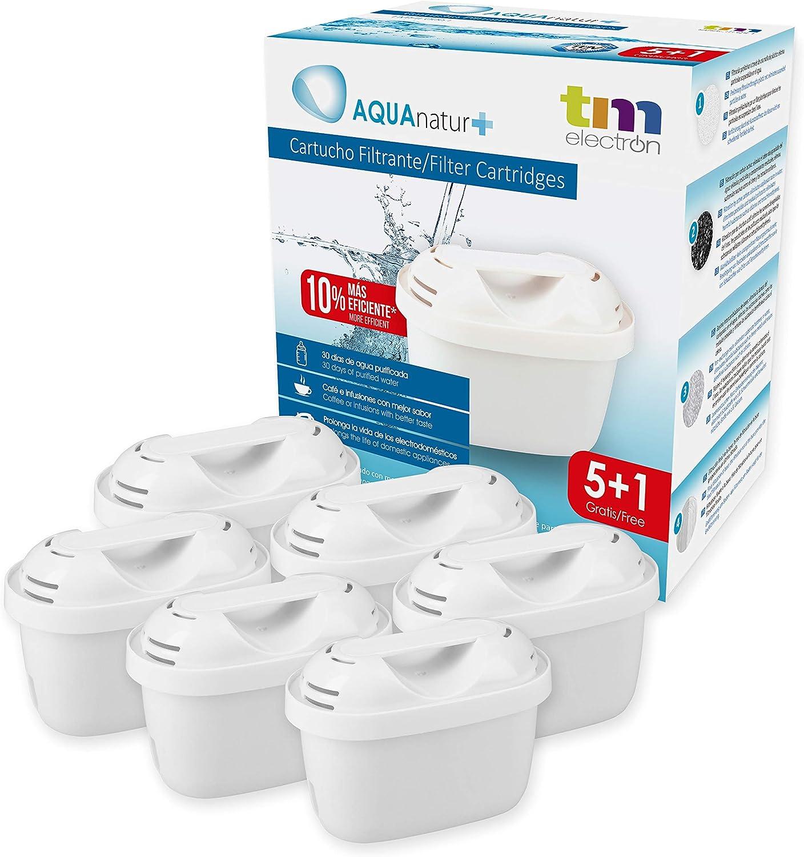 TM Electron TMFIL006+ Pack de 6 a 12 Meses de Filtros de Agua, Blanco, 6 Unidades: Amazon.es: Hogar
