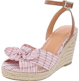487196f638c Amazon.com | Nine West Women's KINDEYES Suede Wedge Sandal, Natural ...
