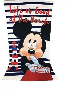 MICKEY Toalla de playa, toalla de playa microfibra – 70 x 140 cm Mouse –