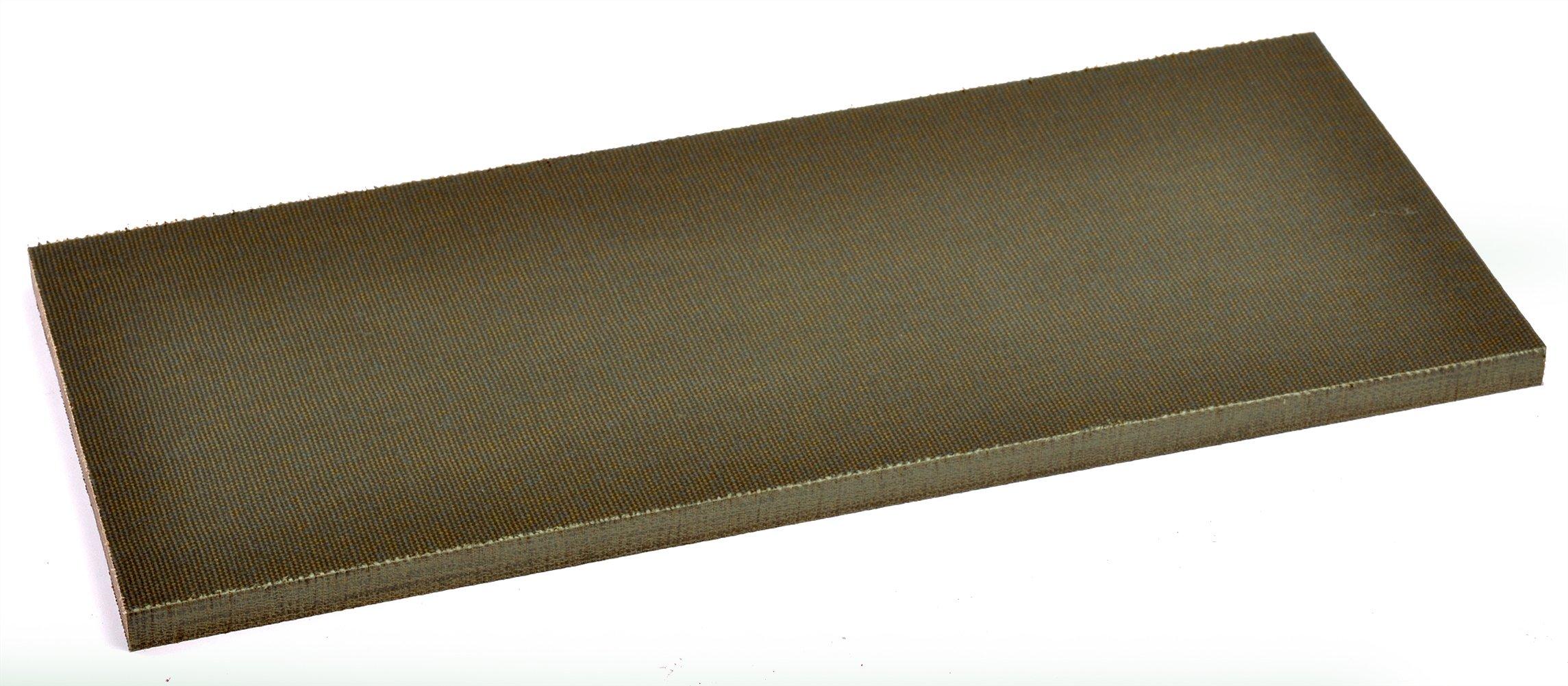 Green Canvas Micarta Knife Handle Piece -- 5'' X 12'' X 3/8'' (Bulk)