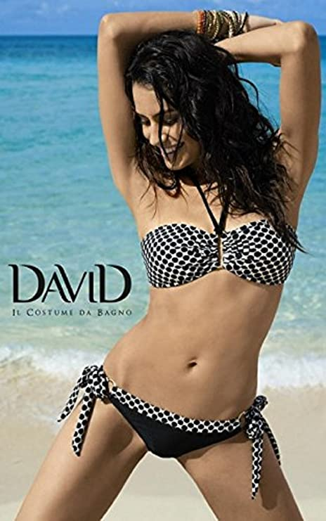 ad2f8261da70 DAVID Bikini Nero E Oro: Amazon.it: Sport e tempo libero