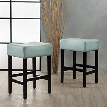Awesome Christopher Knight Home Coventry Light Blue Fabric Backless Counter Stool Set Of 2 Pabps2019 Chair Design Images Pabps2019Com