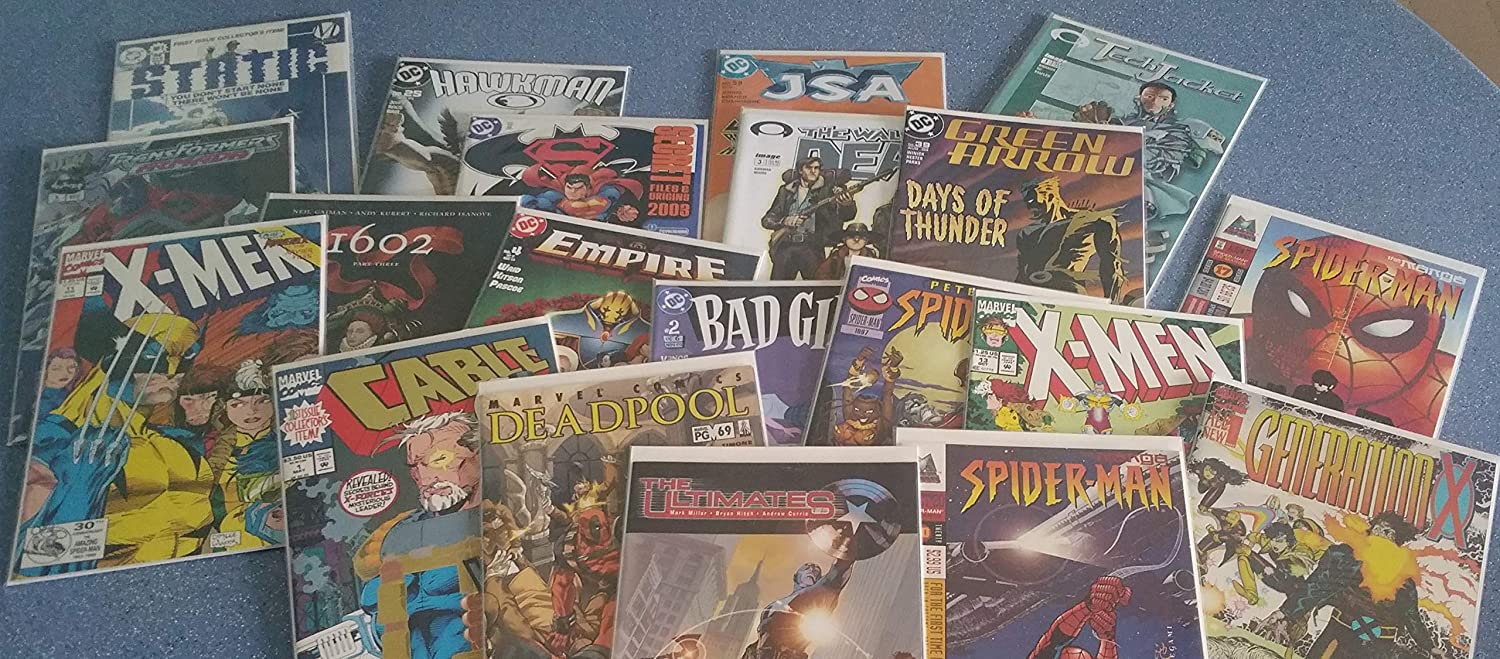 Lot of 25 Different DC Marvel Comic Book Closeout Superman Spiderman Batman
