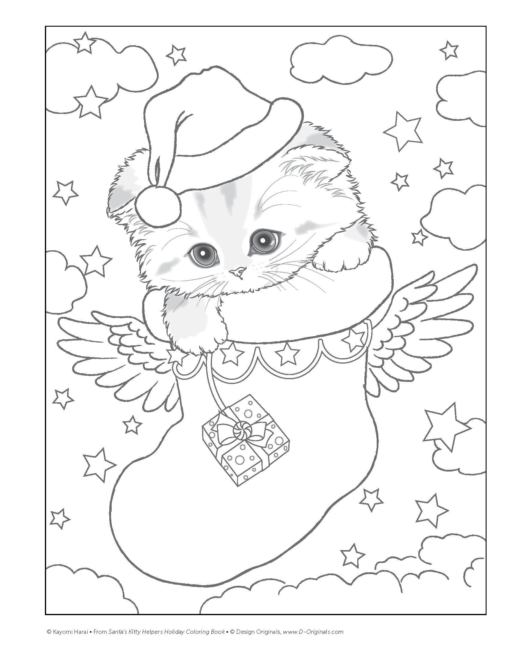 Santa S Kitty Helpers Holiday Coloring Book Design Originals 32