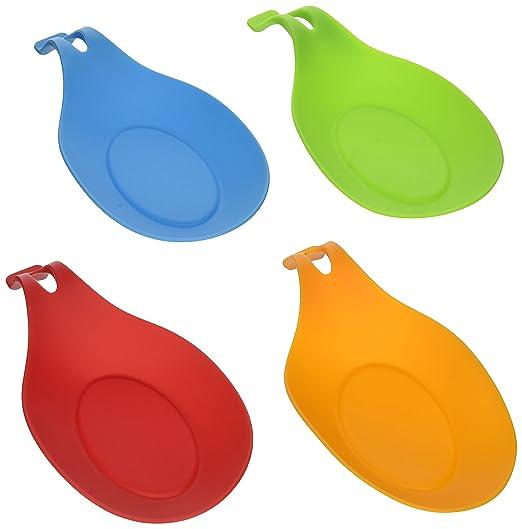 63 opinioni per iNeibo Kitchen poggiamestolo silicone/ Posa cucchiaio, Set da 4 poggiamestoli in