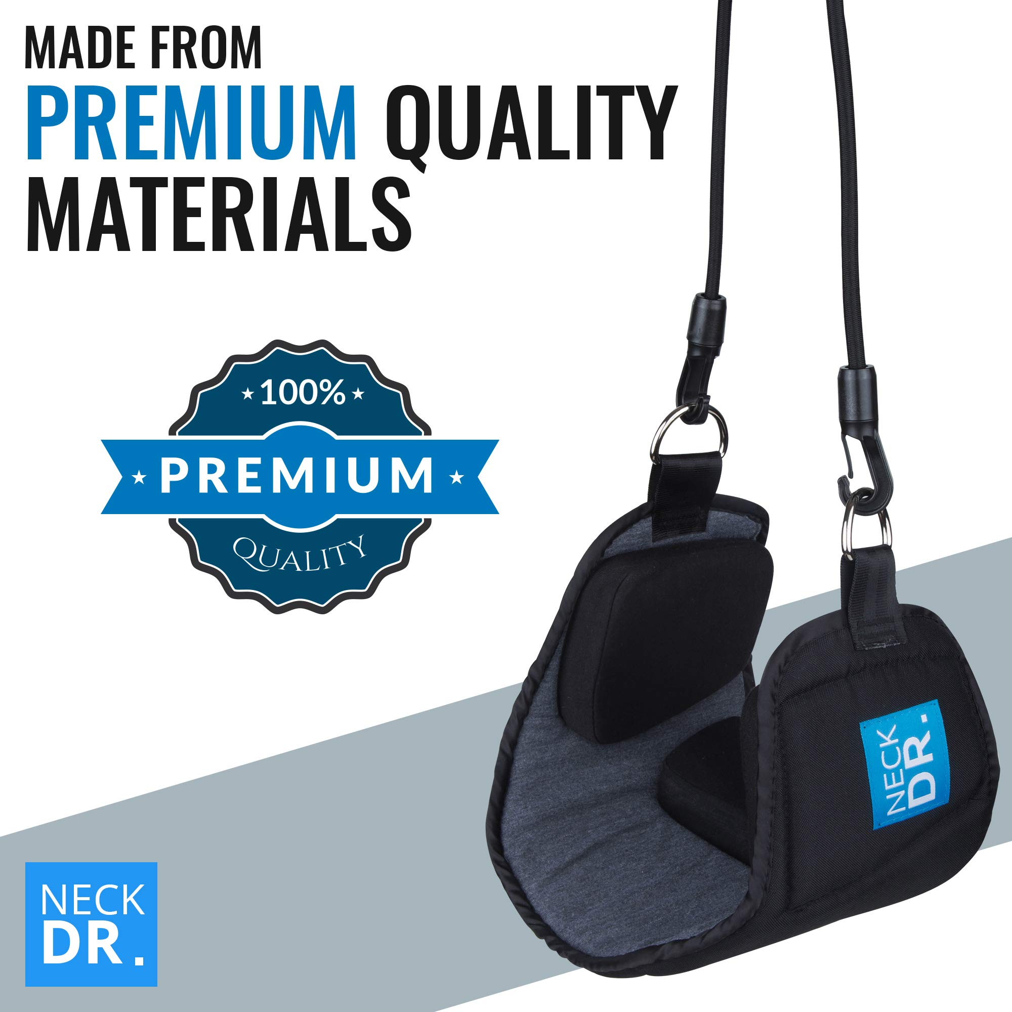 NECK DR. Premium Neck Hammock/Portable Traction Device – Neck Comfort, Cervical Compression Relief, Relaxation Device – Bonus Items: Neck Dr. Brand Eye Mask and Spiky Massage Ball by Neck Dr. (Image #7)