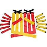 Flag Football Set Kids – Premium 14 Player, 62 Piece Kids Belts and Flags Kit Includes 3 Velcro Flags Per Belt Plus a Bonus 6 Replacement Flags