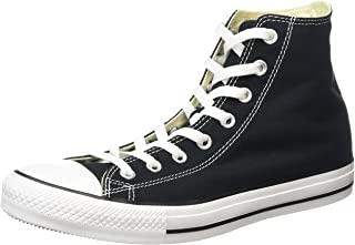 Converse AS Hi Can Optic. WHT, Chaussures Hautes Unisexe Adulte - Noir - Noir, 45 EU EU