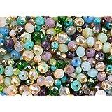 400teilig Sea Dream: türkis, blau, grün, lila und rosa Glas Kristall Rondelle gemischt Bead Set für Schmuck