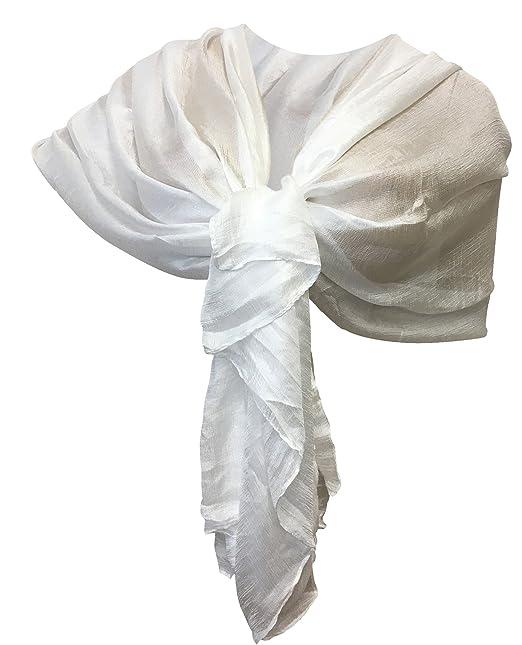 073c5a7d1 LTP Elegante Sciarpa Scialle Brillante Foulard,da Donna Ragazza Coprispalle  Stola Cerimonia in 10 Colori