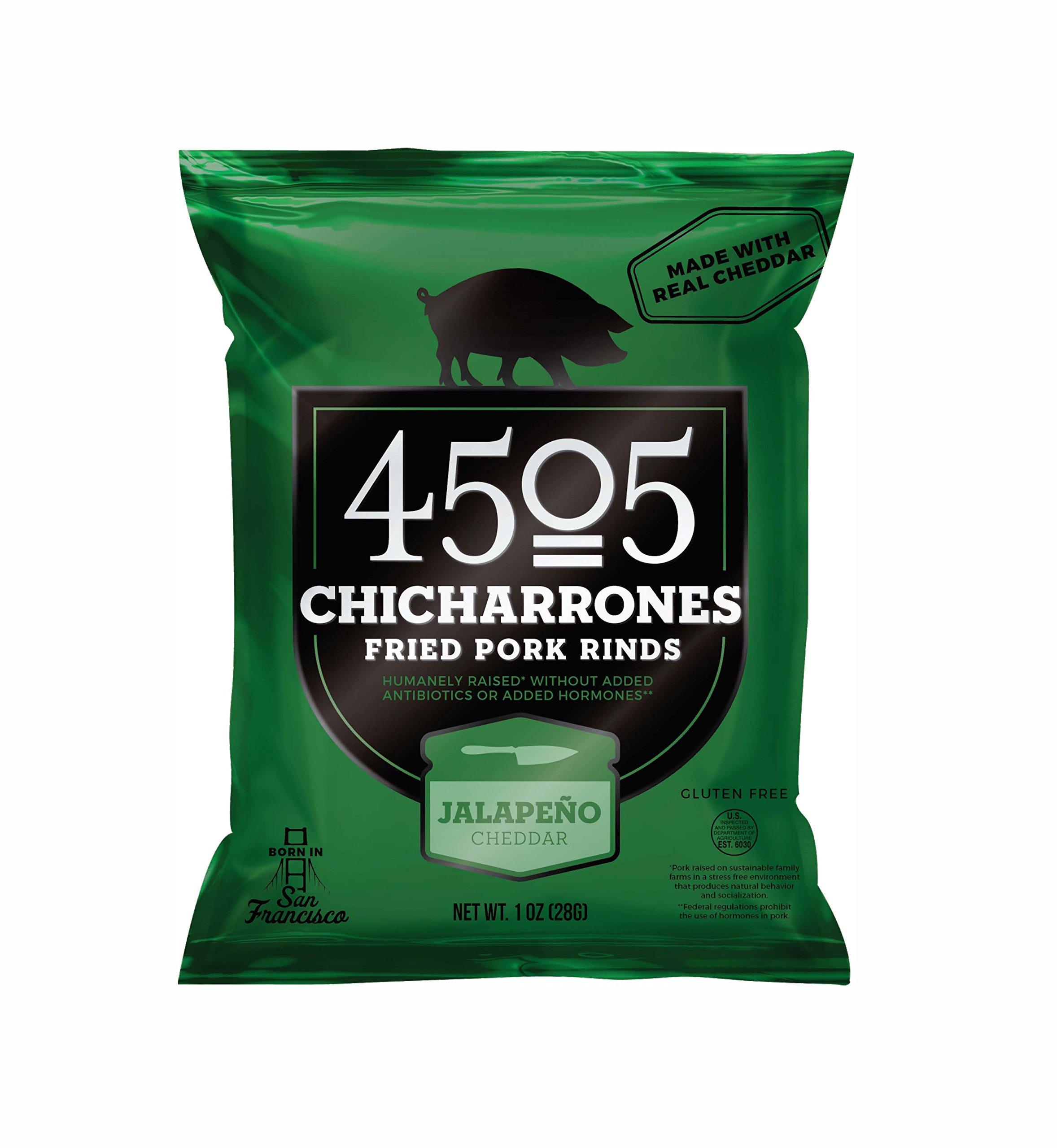 4505 Chicharrones (Fried Pork Rinds) Jalapeno Cheddar, 1 oz, 6-pack