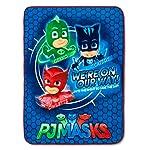 Máscaras PJ: Manta de Felpa Ultra Suave para niños, 116,8 x 152,4 cm, Color Azul