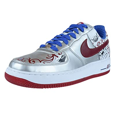 05dae582aef Nike AIR Force 1 Premium Lebron Collection Royale Silver 313985 061 Size 9   Amazon.co.uk  Shoes   Bags