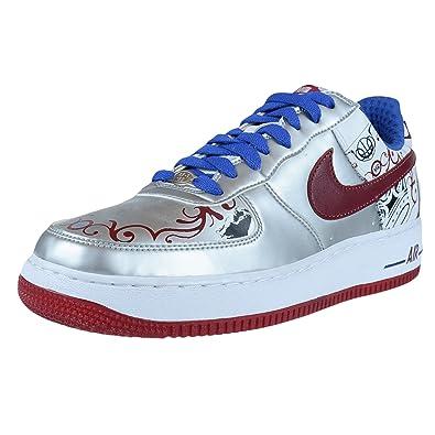 b8c465b030d Nike AIR Force 1 Premium Lebron Collection Royale Silver 313985 061 Size 9   Amazon.co.uk  Shoes   Bags