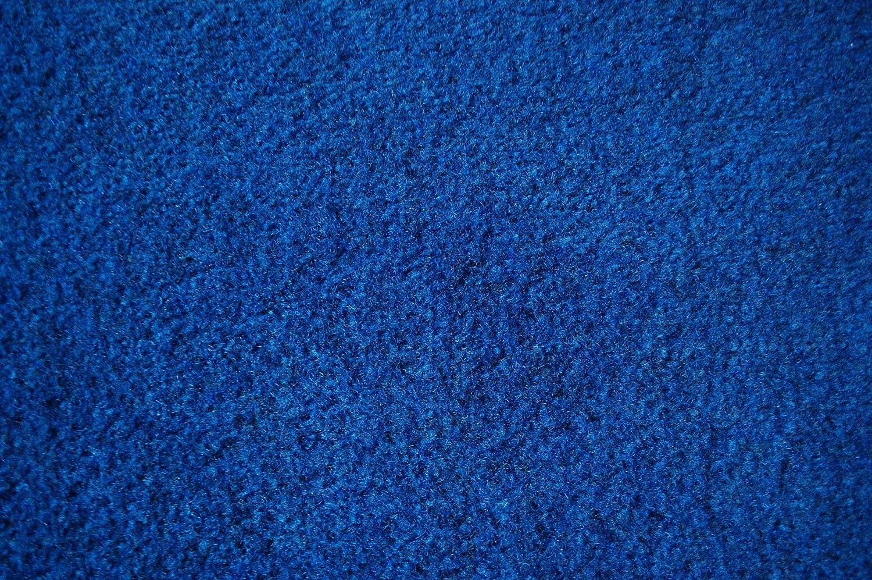 verschiedene Gr/ö/ßen mit Drainage-Noppen Rasenteppich Kunstrasen Premium blau Velours Weich Meterware 400x550 cm wasserdurchl/ässig